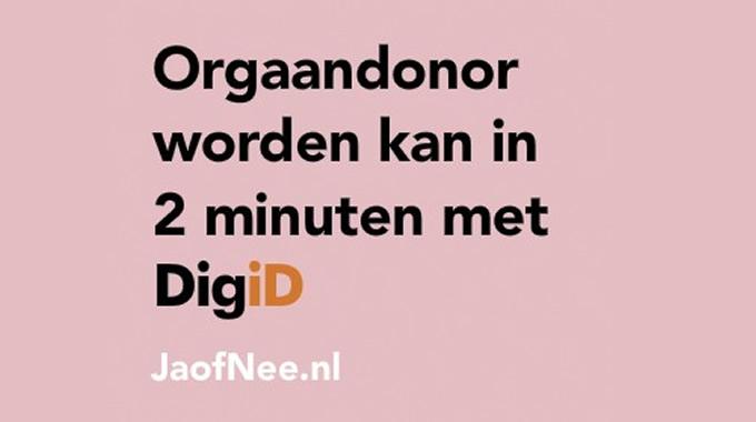 donorregistratie met digid